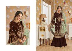 Hurma Vol 10 Gold Designer Faux Georgette Embroidered Salwar Kameez 11