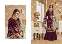 Hurma Vol 10 Gold Designer Faux Georgette Embroidered Salwar Kameez 13