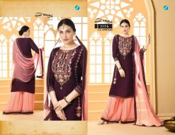 glamour by your choice georgette sharara style salwar kameez online price 8
