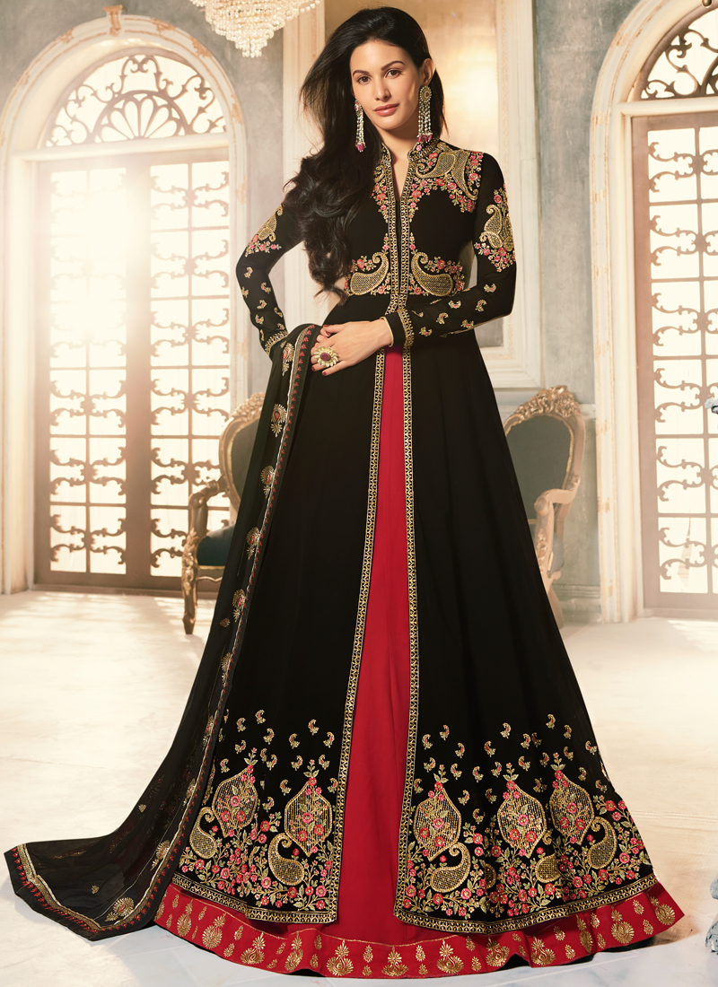 wedding-wear-black-georgette-embroidery-work-anarkali-suit